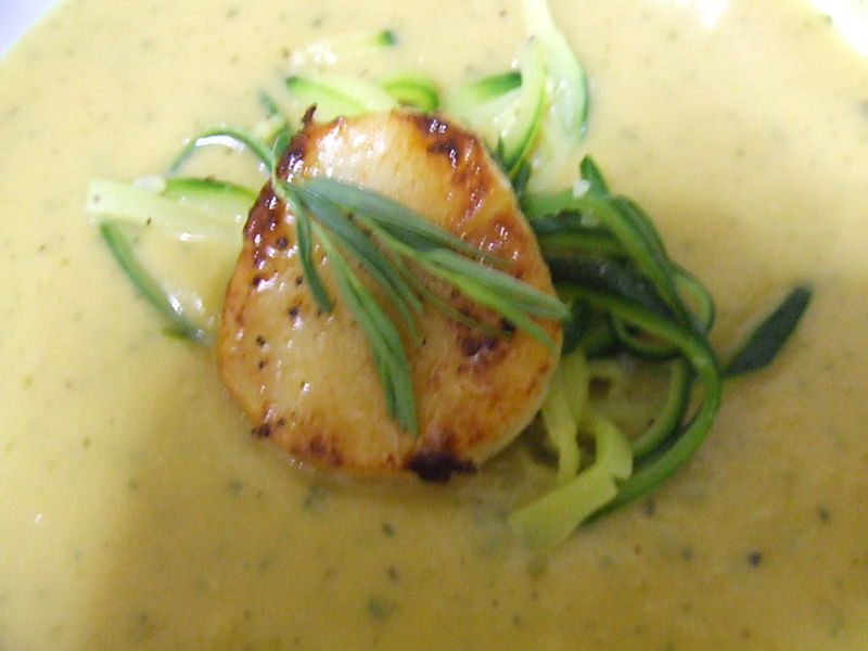 Vichyssoise top view