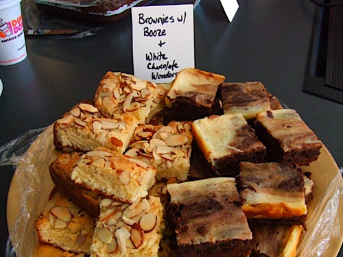 Brownies with Booze and White Choc Wonders