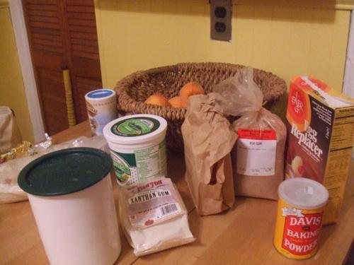 Gluten-free cake ingredients