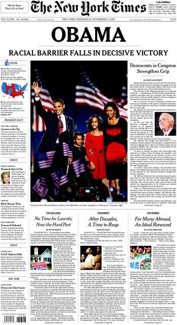 New York Times Obama President