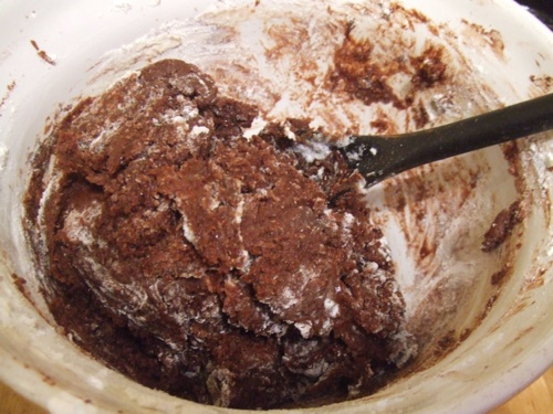 Chewy cocoa cookie dough