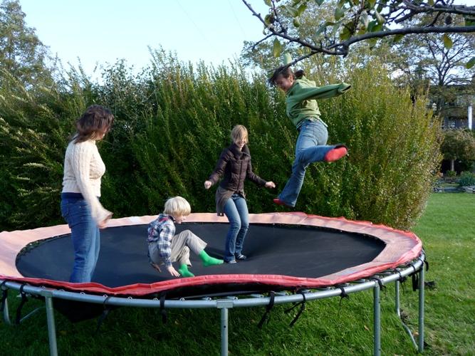 Jackie trampoline moves