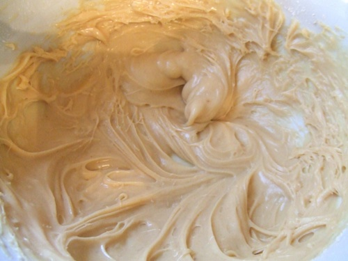 Peanut butter cream cheese glaze