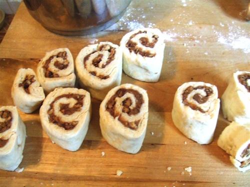 Cinnamon bun rolled up