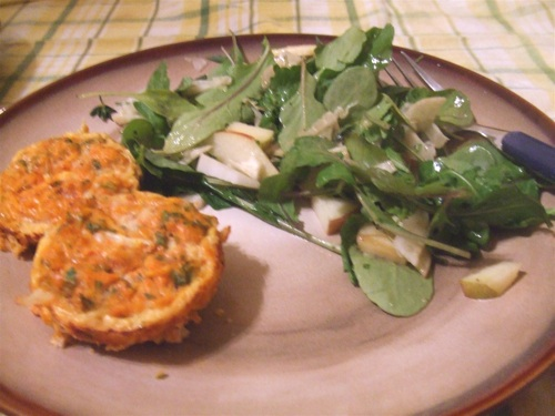 Bouchon au thon and salad