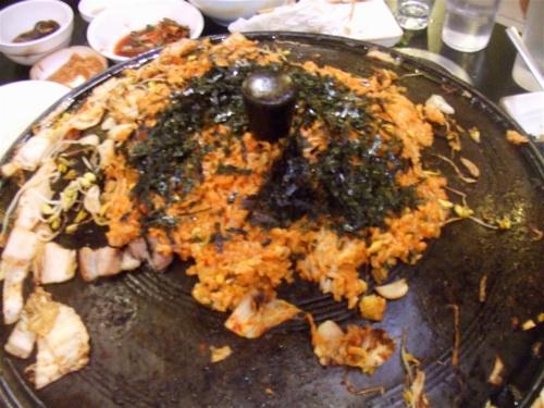 Bibimbap end of meal