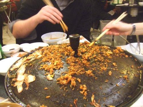 Delicious crispy burned rice