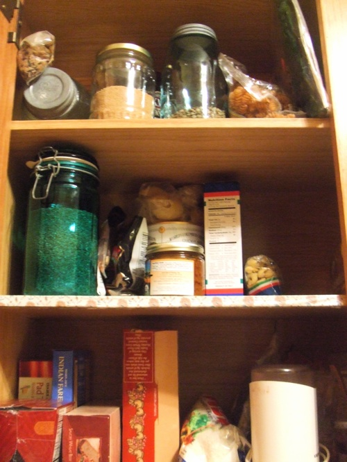 Dry goods cupboard