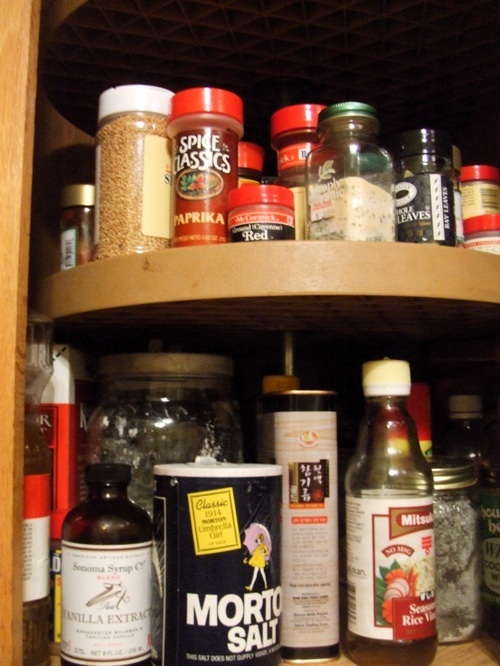 Spices and bottles