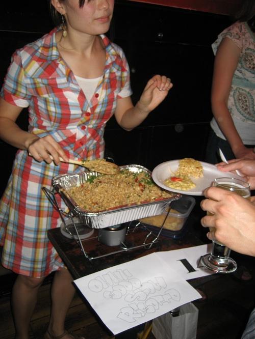 Jackie explaining risotto